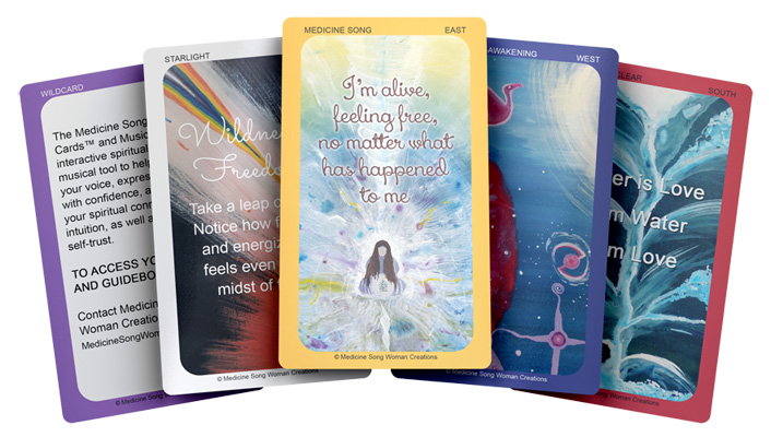 Medicine Song Oracle Cards | Oracle Deck and Healing Music CD